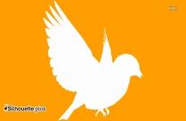 Cartoon Flying Swallow Bird Silhouette Art