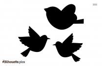 Cartoon Flock Of Birds Flying Silhouette