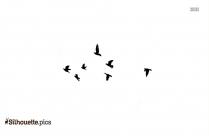 Black Wren Bird Silhouette Image