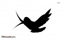 Blue Bird Standing Silhouette