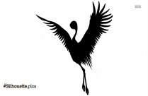 Cartoon Crane Silhouette Illustration