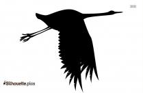Flying Crane Silhouette
