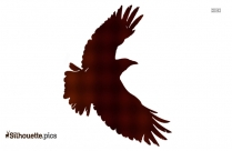 Flying Crow Silhouette Image