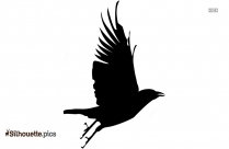 Flying Crow Silhouette Vector