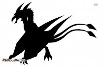 Fly Dragon Sketch Silhouette Image