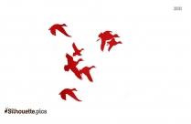 Duck Cartoons Silhouette Image