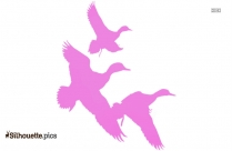 Flying Duck Logo Silhouette For Download