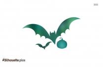 Flying Bat Silhouette Free Vector Art