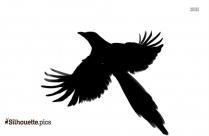 American Magpie Bird Silhouette