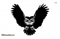 Flying Owl Vector Silhouette Image And Vector