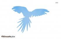 Flying Parrot Silhouette Clip Art Image