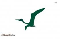 Flying Prehistoric Quetzalcoatlus Silhouette
