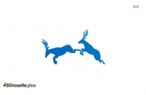 Flying Reindeer Silhouette Art