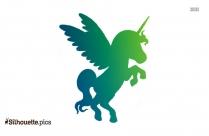 Flying Unicorn Silhouette Vector
