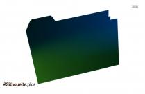 Anime Folder Icon Silhouette