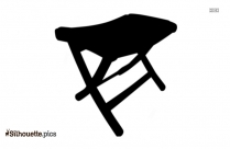 Folding Rope Chair Clip Art Silhouette