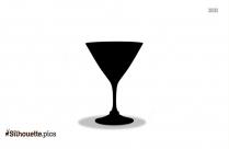 Martini Glass Silhouette Clip Art
