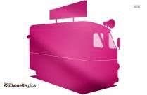 Side Dump Truck Silhouette Clipart