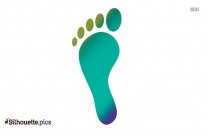 Foot Print Vector Silhouette Image