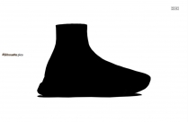 Black Balenciaga Shoes Silhouette Image