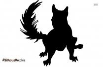 Black Cartoon Zorse Silhouette Image