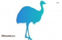 Ostrich Running Silhouette