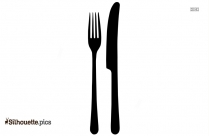 Knife And Fork Silhouette Background