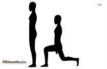 Overhead Press Silhouette Drawing