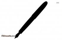 Pen Icon Silhouette Image