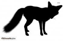 Fox Cub Silhouette Clip Art