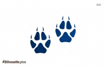 Bobcat Footprint Silhouette Illustration