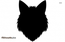 Fox Head Cartoon Silhouette Image