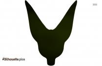 Fox Head Silhouette Drawing