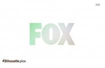 Black And White Cartoon Fox Standing Silhouette