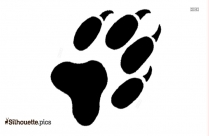 Dogs Footprint Silhouette