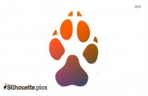 Dog Paw Print Silhouette