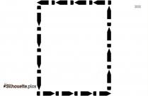 Thin Border Frames Black And White Silhouette