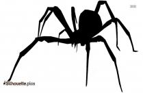 Cartoon Arachnid Spider Silhouette