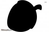 Acorn Silhouette Clipart Picture