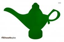 Free Aladdin Lamp Silhouette