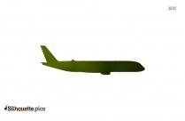 Jet Plane Image Silhouette Vector