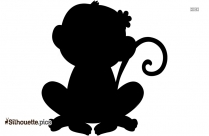 Monkey Cartoon Silhouette Free Vector Art