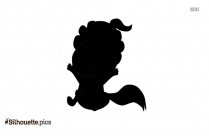 Guy On Bicycle Cute Silhouette Clip Art