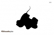 Baby Pluto Dog And Mickey Mouse Silhouette
