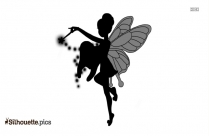 Black And White Tooth Fairy Silhouette