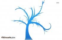 Ballerina Tree Silhouette Free Vector Art