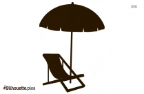 Free Beach Umbrella Chair Silhouette