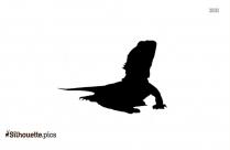 Horned Lizard Iguana Silhouette