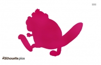 National Animal Of Canada Beaver Vector Silhouette