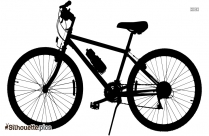 Race Bicycle Silhouette Picture